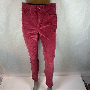 "Madewell - 10"" high rise skinny corduroy pants"
